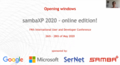 sambaXP 2020 Opening Session